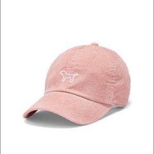 Victoria's Secret Pink Corduroy Baseball Hat